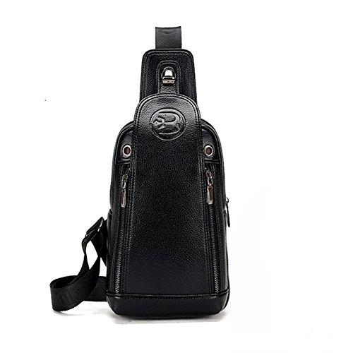 de calidad de cofre viaje de negocios Pecho gran diseño de alta superficie hombres bolsa de suave para apoyo bolsa capacidad de los la ZXJ de enviar black mensajero de bolso vq8A8