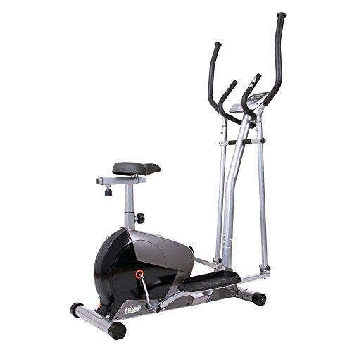Body Champ 2-in-1 Cardio Dual Trainer, black/Dark Gray