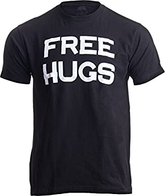 Free HUGS | Cute, Funny Optimist Humanist Silly Hugging Unisex T-Shirt