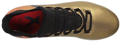 Zapatillas De Fútbol Adidas Hombres X 17.2 Fg, Gris / Coral Real / Core Black, 7.5 M Us Tactile Gold / Core Black / Solar Red