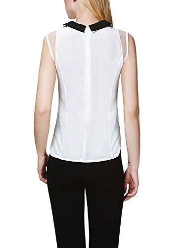 Tops Damen Ärmellos Elegant Sommer Blouses T Shirts Blusenshirt