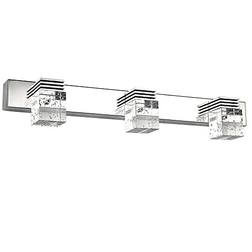 letsun modern 9w 3 light cool white bathroom crystal lights wall light led lamps cabinet mirror lighting fixture - Designer Bathroom Light Fixtures