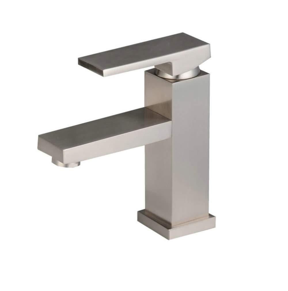 Edelstahl Einhand Mischer Einhebel Kupfer Kalten Und Heißen Wasserhahn Schwerkraftguss Waschbecken Mischbatterie