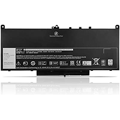 KYUER 7 6V 55WH MC34Y J60J5 4-Cell Primary Laptop Battery Pack Replacement for Dell Latitude E7270 P26S001 Latitude E7470 P61G001 Notebook R1V85 451-BBSX 451-BBSY 451-BBSU 242WD 1W2Y2 GG4FM WYWJ2
