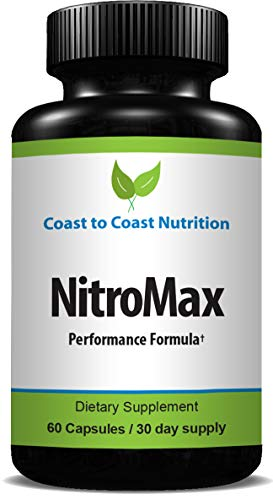 NitroMax Nitric Oxide Supplement L Arginine 1300mg – Citrulline Malate, AAKG, Beta Alanine – Premium Muscle Building NO Booster for Strength, Vascularity & Energy to Workout Harder – 60 Capsules
