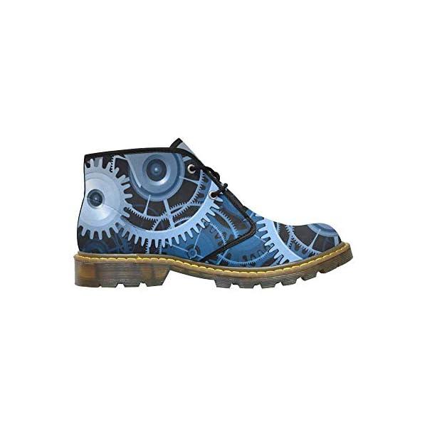 INTERESTPRINT CaseCastle Shoes Steampunk Men's Nubuck Chukka Boots 4