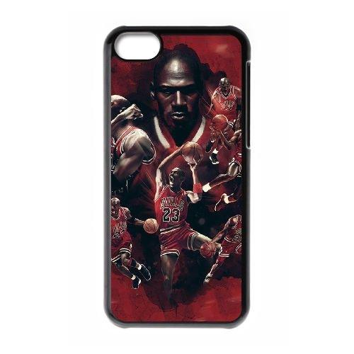 S6X67 Michael Jordan L1E2XX cas d'coque iPhone de téléphone cellulaire 5c couvercle coque noire DI7RWH6FF