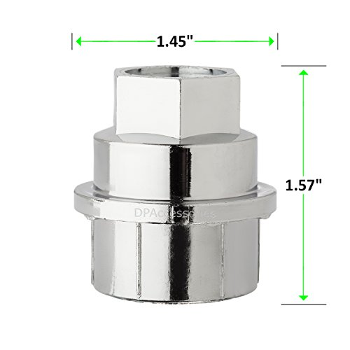 DPAccessories CC-4D-P-OCH05032 32 New Chrome Plastic Wheel Lug Nut Caps - Replaces GM 15646250 / Dorman 99956 Wheel Lug Nut Cap by DPAccessories (Image #4)