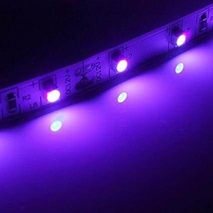 MASUNN 0.5//1//2//3//4//5 M 3528 UV Ultravioleta P/úrpura No Impermeable L/ámpara De Tira De Luz Negro 12V-0,5 M