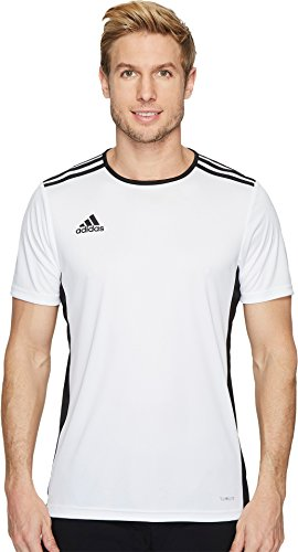 adidas Mens Soccer Entrada 18 Jersey, White/Black, Medium