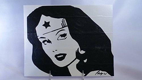Duct Tape Art Piece of Wonder Woman -