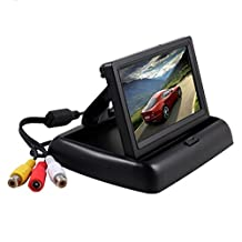 Esky Foldable 4.3 Inch Color LCD TFT Rearview Monitor Screen For Car Backup Camera