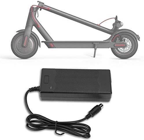 chargeur xiaomi m365,42V 2A Chargeur Adaptateur pour Scooter Électrique Pièces Chargeur de Batterie Accessoires pour Xiaomi Mijia et Ninebot Scooter Électrique Cyclomoteur ES1/ES2/2S3/ES4(EU 220V)