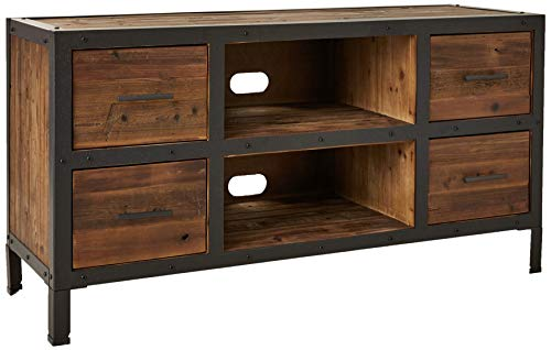 Belmont Home Reclaimed Wood 4 Drawer TV Stand