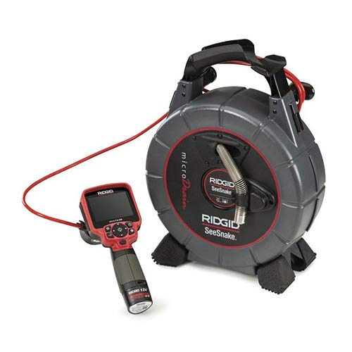RIDGID 40788 SeeSnake microDrain D65S Video Inspection System with D65S Reel, Micro CA-350 Inspection Camera, Sonde, Camera Head & 65 ft. Cable (115V)