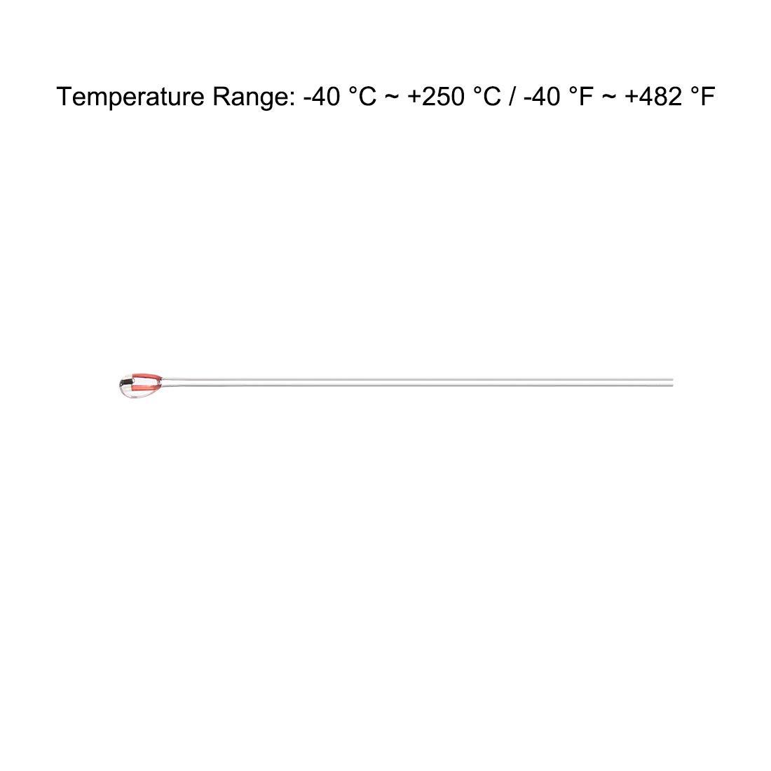 sourcing map NTC 3950 100K Ohm Termistor para 3D Impresora Extrusora Climatizada Cama 5uds