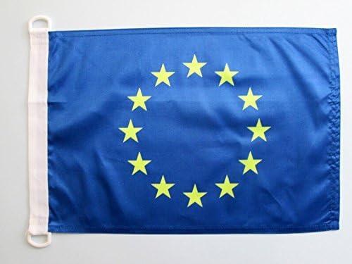 AZ FLAG Bandera Nautica de Europa 45x30cm - Pabellón de conveniencia Union Europea - UU.EE 30 x 45 cm Anillos: Amazon.es: Hogar