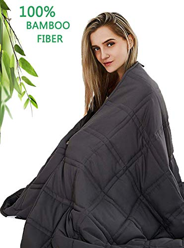 Cheap Beauty Kate Cooling Weighted Blanket with 100% Bamboo Viscose 20lbs Queen Size(60