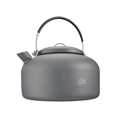 Esbit Hard Anodized Aluminum Water Kettle for Camp Stoves, 1400ml by Esbit