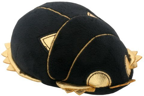 SUMMIT COLLECTION Black and Gold Ancient Egyptian Scarab Beetle Small Plush Doll ()