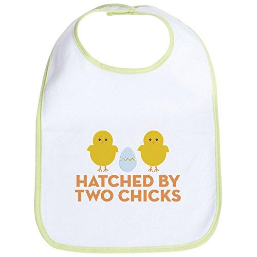 (CafePress Hatched By Two Chicks Bib Cute Cloth Baby Bib, Toddler Bib)