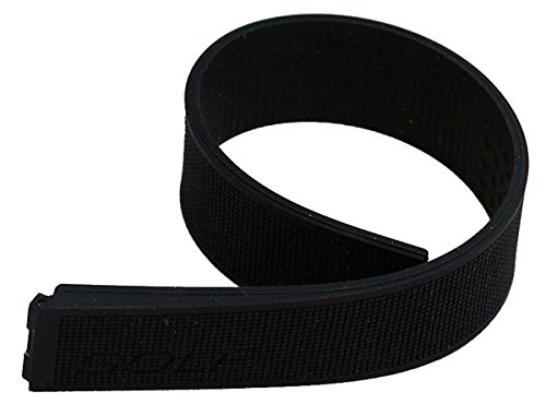 Black Silicone Rubber Watch Band to Fit TAG Heuer Golf FT6004
