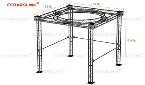 Trade Show Booth, Trusses DJ Stage 12' X 12' X 10' Metal Truss Triangle Trusses With Circular Truss Inside