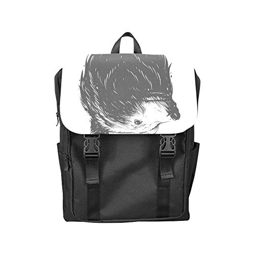 Fashion Flip Cover Notebook Cool Black Brown Roaring Bear Head Paw Print Laptop Backpack Travel Men Women Business Computer Backpack Oxford Fabric Vintage School Shoulder Bag -
