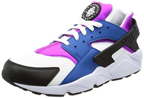 NIKE Men's Air Huarache Blue Jay/White Hyper Violet Running Shoe 10.5 Men (Nike Air Total Package)
