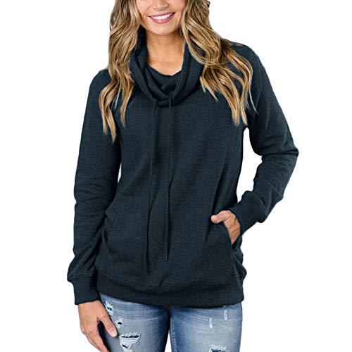 Mioloe Women's Hoodies Tops Long Sleeve Pocket Drawstring Sweatshirt Pure (Hooded Top Company)