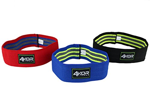 Hip Band Set of 3 by 4KOR Fitness- Resistance Loop Circles P