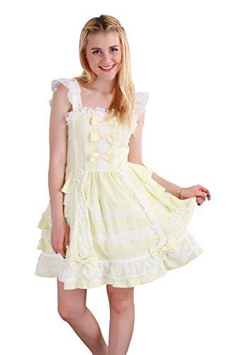 Nuoqi Customized Sweet Princess Court Lolita Dress Lace Cosplay Costumes CC220F-CT