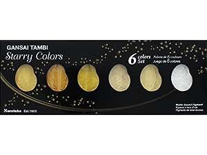 Zig Kuretake Gansai Tambi 6color Set Starry colores, acrílico, multicolor