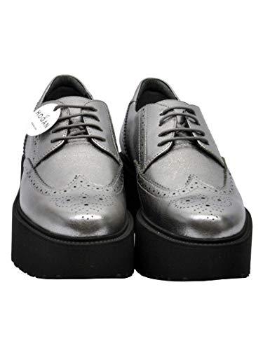 Plata Mujer Hogan Hxw3550ab00mecb205 Zapatos De Cuero Cordones p7HExZqn