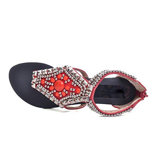 Pour red Femme CNPSHOE137B Tongs ZAMME waEIO