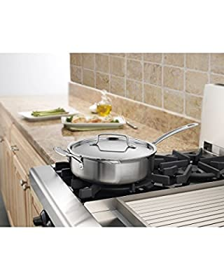 Cuisinart MultiClad Pro Stainless Saute with Helper and Cover