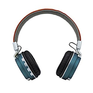 Wireless Bluetooth Stereo Headphones with MIC,Jeselry Foldable Wireless Stereo Headsets On Ear, Bluetooth Version 4.0,Powerful Bass Headphones with Detachable Audio Cable 3.5mm,TF ,FM-Blue
