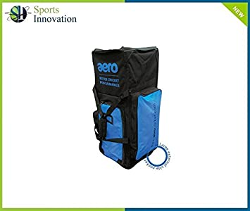 1d986956f6 Aero Cricket Bag - STAND UP CLUB - Black Blue  Amazon.co.uk  Sports    Outdoors