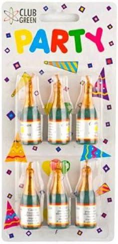 24.5 x 17 x 12.5 cm 6XB//P Card Green CLUB GREEN Candle Champagne Bottle