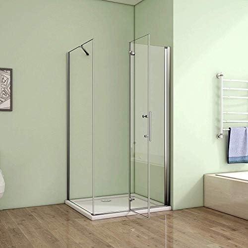 80 x 70 cm mampara de ducha cabina de ducha Puerta plana con guardapolvo para puerta de ducha cuadro: Amazon.es: Hogar