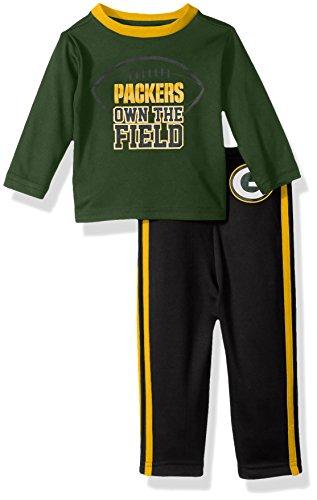 NFL Green Bay Children Boys Short sleeve Tee & Pant Set, 18 Months, Packers