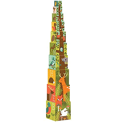 Petit Collage Nesting Blocks, Woodlands ABC