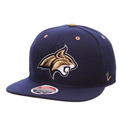 エンドウなす典型的なZephyr Men 's Montana State Bobcats z11 Zwool帽子ネイビーAdj