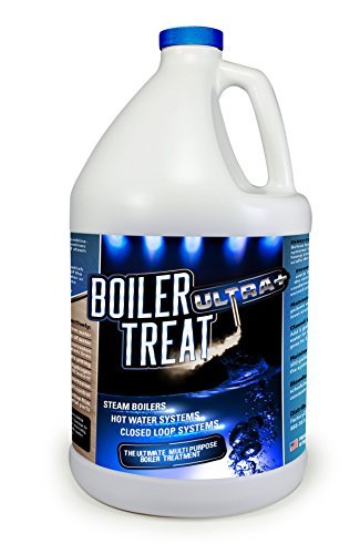 BOILER TREAT ULTRA Multi Purpose Boiler Water Treatment - 1 Gallon (Removes Scale & Lime in Steam Boilers, Hot Water Systems, Closed Loop Systems & Wood Burning Boilers) by FDC