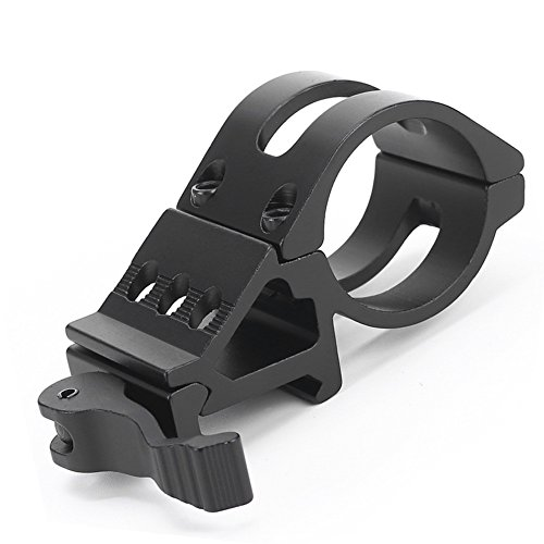 Alonefire weapon light mount offset mount picatinny rail for guns weapons tactical flashlight LED Torch with quick release and grommet for Sports Outdoors Hunting Fishing Shooting Airsoft Accessories