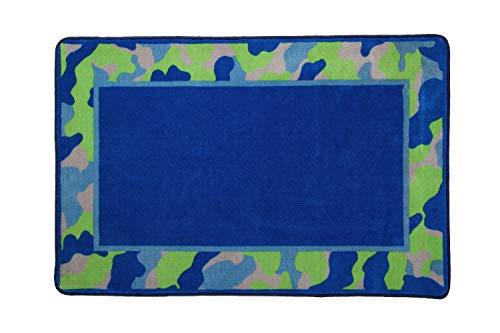 (Kids Area Rug, Boys Camo | Children's Room Carpet in Green and Blue Camouflage | Delta Children)