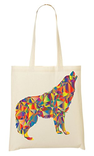Colorful Fourre Sac À Provisions Graphic Howling Sac Enraged Tout CP OBndqgg