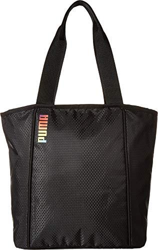 PUMA Women's Dash Tote Black/White One Size (Handbag Puma White)