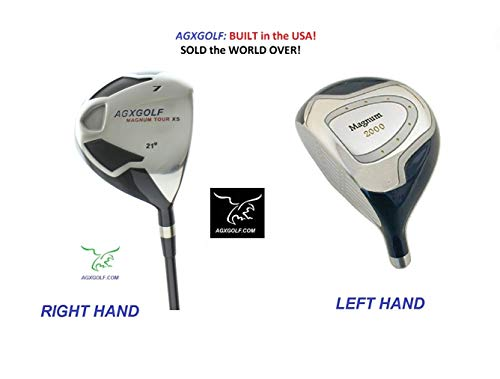 AGXGOLF Men's Magnum #7 Utility Fairway Wood wGraphite Shaft: Choose Length & Flex: Free Head Cover Made in USA ()