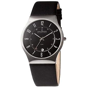 d1666cae8189 Amazon | [スカーゲン]SKAGEN メンズ ステンレススチール ブラックレザー 233XXLSLB 腕時計 [並行輸入品] | 並行輸入品 ・逆輸入品・中古品(レディース) | 腕時計 ...